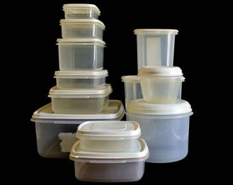 Rubbermaid Servin' Saver Plastic Containers Canisters, Pitcher, Food Storage 1980s