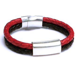 Red and Black Braid and Tube