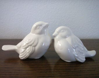 Ceramic Small Bird Set/Wedding Cake Toppers