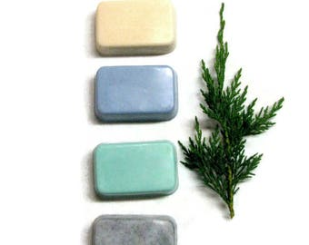 Mens Gift Set, Fathers Day Gift, 4 Bar Soap Set Three Butter Blend