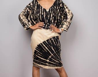 Short dress, Tie dye dress, bleached dress, midi dress, loose fit dress, hippie dress, summer dress, festival dress: Funky Bleach Collection