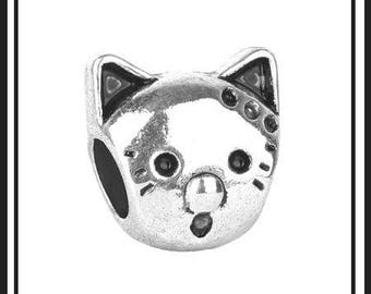 CAT - KiTTY - PURRfect for Cat Lover - Great Quality Antique Silver Charm Bead - fits European Bracelets - MS-1011