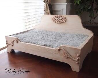handmade dog bed wood pet bed raised dog bed newborn prop bed - Elevated Dog Beds