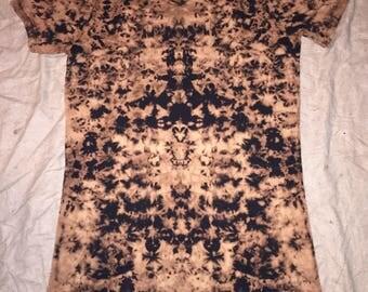 5663 Womens S/M L.A.T. V-Neck T-Dress Reverse Dye 100% Cotton