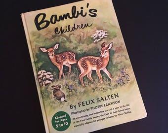 Vintage 1950's Abridged Bambis children