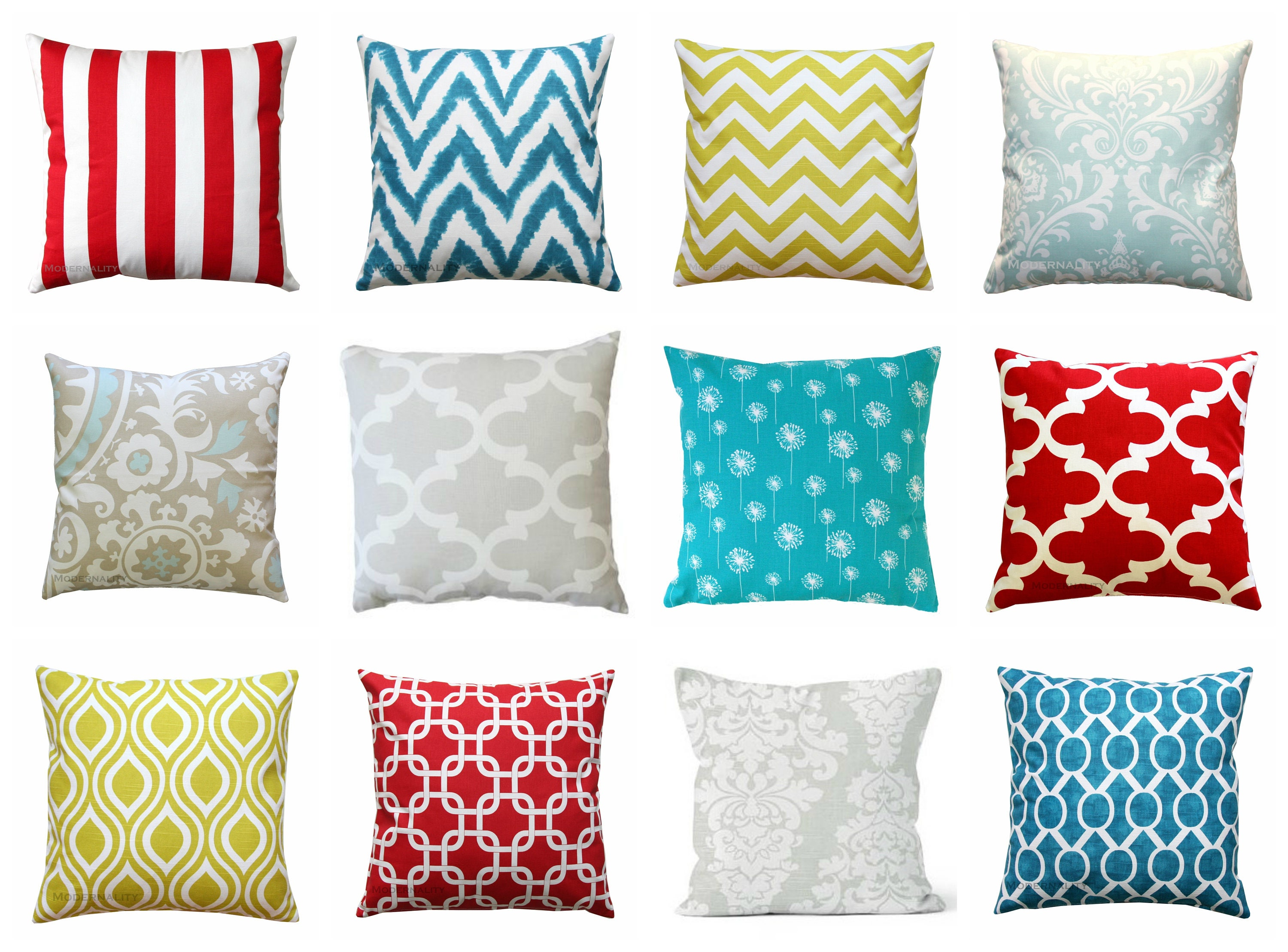 CLEARANCE Throw Pillows Red Pillow Cover 19x19 Zippered