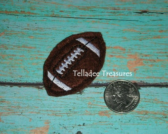 Football Feltie -Small brown felt - Great for Hair Bows, Reels, pins and Crafts - Sports theme