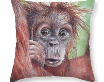 Baby Orangutan Pillow