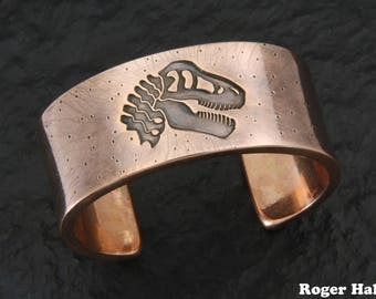 Copper T-rex Cuff