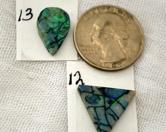 Sterling Opal cabochons 12, 13 each sold separately