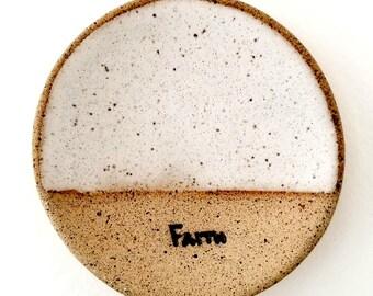 FAITH Mini- Rustic Jewelry Dish |Tea Bag Holder | Inspirational Gifts | Stoneware Favors | #SDMINI3-L