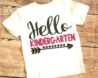 Hello Kindergarten Back to School First Day Shirt Teachers Pet