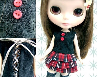Clearance Sale - YAN - Layered One-Piece Dress for Blythe doll