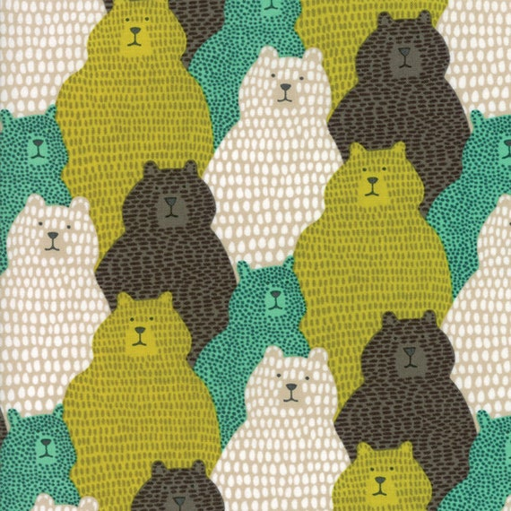Big Sky By The Yard Moda Fabric Packed Grizzly Bears