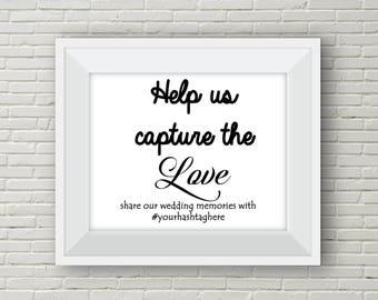 Wedding Hashtag Sign.  Rustic Wedding Sign. Instagram Sign.  Instagram Hashtag.  Printable Sign. Hashtag Sign. Hashtag Printable.