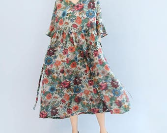 Fashion High waist big dress Leisure maxi dress Women Long dress