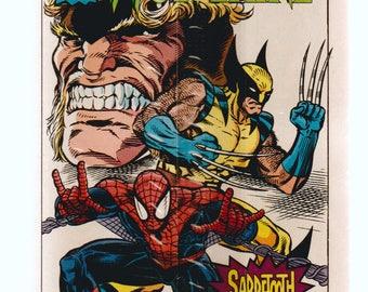 Spider-Man Jubilee Wolverine Sabretooth Rhino Drakes Mini Comics Pub. 1993