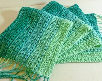 Hand Knitted Malachite Scarf