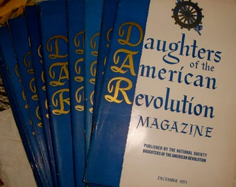 DAR 1955 Daughters of the American Revolution 12 magazines complete set