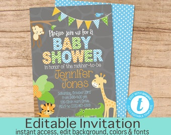 Jungle baby shower Etsy
