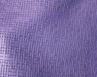"""NEW Leather 8""""x10"""" PANAMA Amethyst PURPLE Basket Weave Embossed Cowhide 2-2.5 oz/0.8-1 mm PeggySueAlso™ E8000-05"""