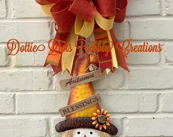 Scarecrow Door Hanger, Scarecrow, Tin Scarecrow, Scarecrow Decor, Fall Decor