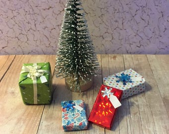Miniature Christmas Presents for Dollhouse or Barbie 1:12 Scale