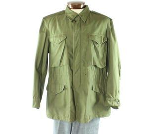 Vintage 50s Army Coat Parka Jacket M-1951 M51 Military Uniform 1950s Mens Medium M