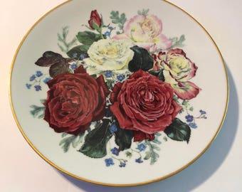 Franklin Mint 1991 The Royal National Rose Society Ltd Plate~Majesty Of Rose Fragrant Glory