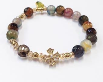 Bracelet, Rosary bracelet, religious, Catholic Bracelet, Friendship bracelet, Beaded Bracelet, Women's Bracelet, Beaded Jewelry, Gifts