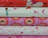 BUNDLE SALE Wee Wanders Pink Bundle from Michael Miller (5 Fabrics)