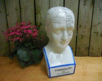 Vintage Phrenology Head by L.N. Fowler