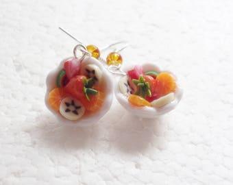 Fruit Salad Earrings. Polymer Clay