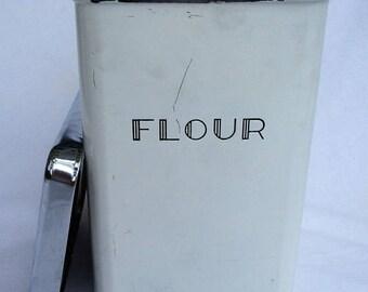 SALE 60% OFF Vintage Garner Ware Aluminum Tin Metal Flour Canister
