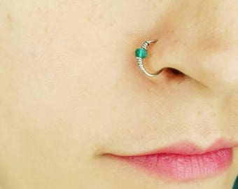 Fake Nose Ring - Nose Ring - Clip On Nose Ring - Faux Piercing - No Piercing Nose Cuff