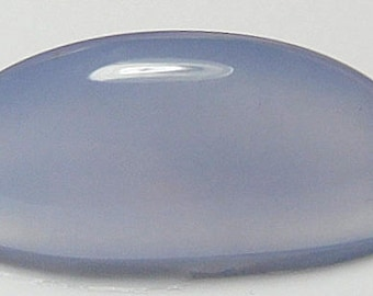 Namibian blue chalcedony designer cab high dome Oval  AA  color and clarity 12.96 ct.