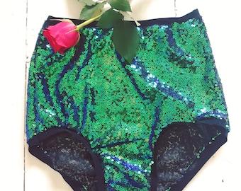 High waist sequin knickers hot pants