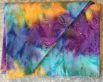 Rainbow Tie Dye Altar Cloth - table runner, tablecloth, shrine decoration, 100% cotton