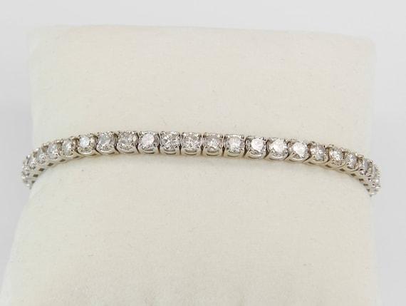 14K White Gold 8.62 ct Diamond Tennis Bracelet Traditional Prong Set