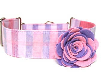 Dog Collar Flower Add-on Felt Flower Pink and Purple Flower for Dog Collar