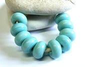Light Turquoise, Lampwork Spacer Beads, SRA, UK