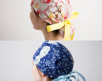 Surgical Hat, Scrub Hat, Scrub cap, Surgical cap~ Disney Princess (long Hair)