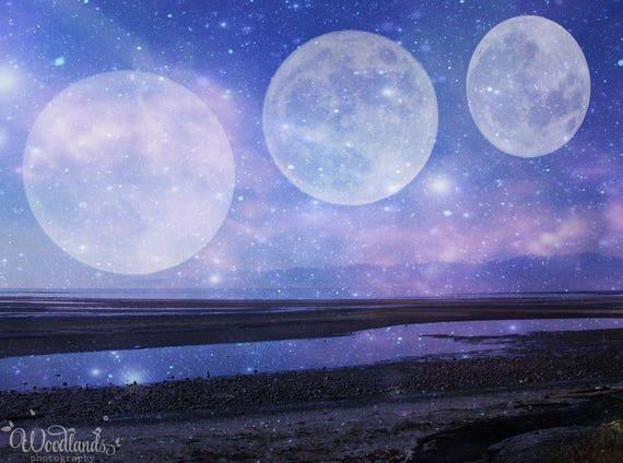 Night Sky Fantasy Printscience Fiction Artdreamscapesurreal