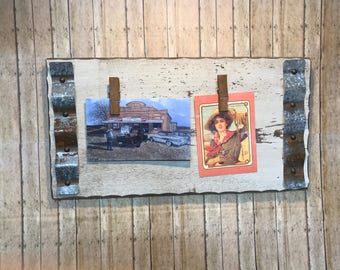 Rustic picture frame - Reclaimed wood picture - Wood frame