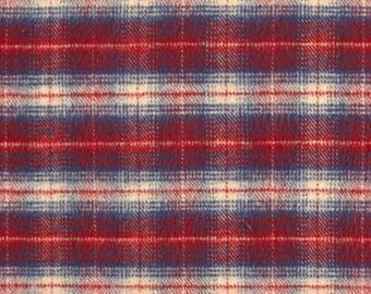 Curtain Panels or Valance - Red Navy plaid