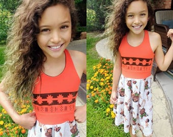 MOANA Dress, Girls Moana Dress, Girls Dress, Moana, Moana Aurora Dress - Available in  2y - 12y