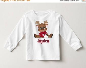 ON SALE Reindeer Christmas Personalized T-shirt or Onesie
