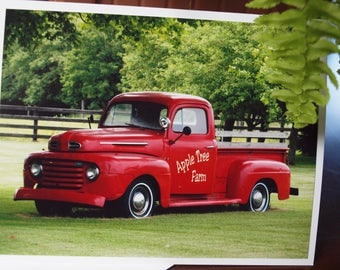 Ford Truck Card, Blank, Old Truck Card, Historic Vehicle Card, for Birthdays, Father's Day, or Note Cards