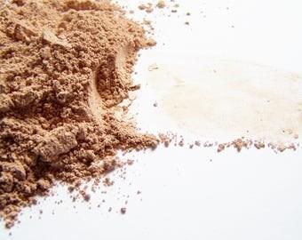 Tan 8 Mineral Foundation - Soft Matte Foundation In a Tin - Zero Waste  - Vegan Makeup