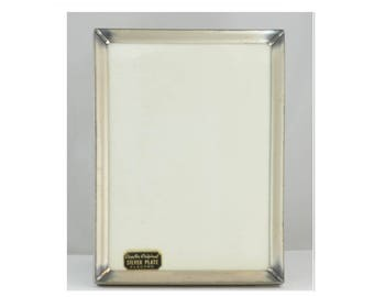 "Vintage Silver Plated Photo Picture Frame 1960's - 5"" x 7"""